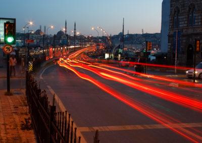 Traffic on Galata Bridge